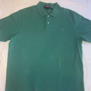 Men's Green Vineyard Vines collared polo shirt